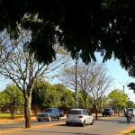 A pacata Avenida Teniente Herrero é uma das principais da cidade. Quando chegam os turistas e compradores, a cidade se transforma (Foto: licença Wikimedia Commons)