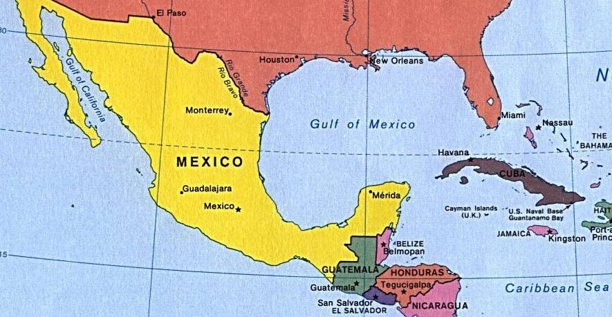 Países da América Central - e suas capitais, idiomas e moedas