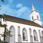 Diretamente do século 19, eis a Igreja Evangélica de Confissão Luterana de Testo Alto (Foto: Divulgação/ Pomerode Online)