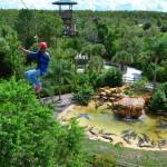 Além do turismo rural, o Forever Florida oferece um programa para crianças do mundo todo acamparem durante o período das férias enquanto estudam inglês e aprendem algumas atividades campestres (Foto: Divulgação/Experience Kissimmee)