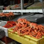 No Mercado de Angelmo, em Puerto Montt, tem os famosos caranguejos gigantes encontrados nas águas geladas do Pacífico (Foto: Marcelo Uribe)