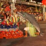 A mais antiga manifestação cultural popular da Amazônia, que acontece há mais de 300 anos, conta com a apresentação alegre e obrigatória do Boto Cor de Rosa, um dos símbolos da região (Foto: Rodolfo Oliveira/Agência Pará)