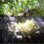 No detalhe, a cascata formada pela Cachoeira Três Quedas, uma das mais visitadas do distrito de Taquaruçu (Foto: Antonio Olmedo Soler)
