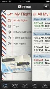 O Flight+ apresenta informações como tempo, placas de voo do aeroporto e dados de companhias aéreas (Foto: Divulgação)