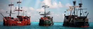 Os famosos navios pirata de Cancún (Foto: Divulgação/Captain Hook)