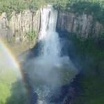 Salto São João: em seus 84 metros de altura, esse salto impressiona pela beleza. É possível tomar banho onde há pouca  profundidade (Foto: Prefeitura de Prudentópolis)