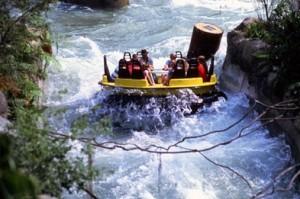 Sim, você vai se molhar (e muito, provavelmente) no Congo River Rapids, que simula um rafting pelas corredeiras do Congo. Eu e a Rose gostamos, pois a temperatura estava bem alta naquele dia (Foto: Divulgação/Busch Gardens)