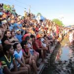 O público se diverte com o evento na cidade que tem a criação de suínos como uma das principais fontes de renda (Foto: Portalcampomaior)