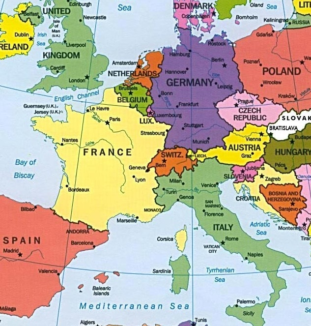 mapa da asia paises e capitais Países da Europa   e suas capitais, idiomas e moedas   Lugares e  mapa da asia paises e capitais